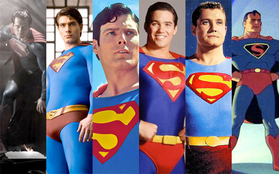 Superman through the ages.